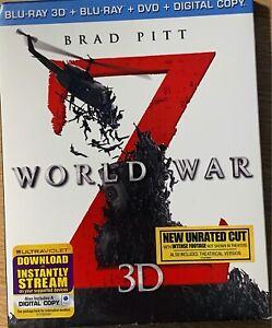 WORLD WAR Z (2013) - 3D BLURAY + DVD Set Slipcase *Region A*