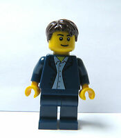 Lego Groom Minifigure Blue Suit  Brown Hair Wedding Best Man Usher  Cake Topper
