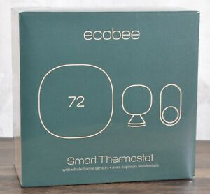 NEW ecobee3 lite Smart Thermostat w/ Whole Home Sensors Wi-Fi 2.4GHz Energy Star