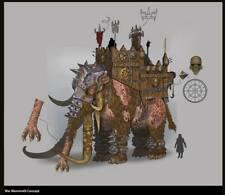 Chaos War Mammoth with Norska Javeleen throvers Resin Kit
