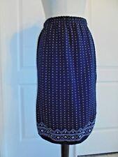 UNBRANDED Navy Blue Geometric Design Acrylic Sweater Knit Skirt Sz M