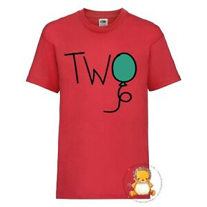 Kids 2nd Birthday T-shirt - Two, 2, personalised, second, party, gift