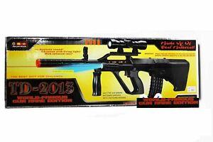 Kids Toy TD2013 Military Assault Guns with Vibration Sound Flashing Lights