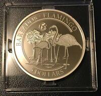 2018 Barbados 1 Oz Silver The Flamingo $5 Coin - Fabulous 15 Privy Mark