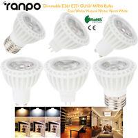 15W Dimmable LED COB Spot Light Bulb E26 E27 GU10 MR16 220V 110V Cool Warm White
