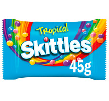 Full Box of 36 Skittles Tropical Sweets Bag 45g  Free Tracked Delivery