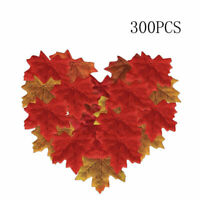 300pcs Artificial Maple Leaves Fall Leaves Silk Leaves Simulation Autumn Leaves