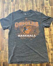 Baltimore Orioles Majestic Weathered Grey Tee Shirt Men's Medium