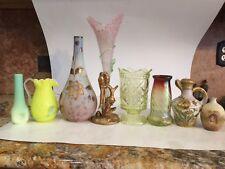 Antique Epergne Steven And Williams Glass Spelter Metal Base Lovebirds Rare