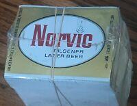 NORVIC PILSNER LAGER BEER BOTTLE LABEL UNUSED lot of 100 sealed new OLD STOCK