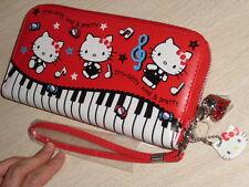 Hello Kitty Clutch Long Wallet Purse red Zip-Around #085