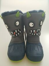 Childrens Cat & Jack Huxley Monster Winter Boots Gray Toddler 12