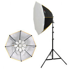 LIFE of PHOTO Foto-Studio-Set OS-985, Lampe 9x85 W Dauer-Licht + Softbox Ø 90cm