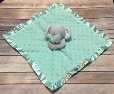 Carters Child of Mine Sweet Little One Rattle Elephant Green Security Blanket