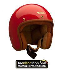 "Hedon ""hedonista"" cara abierta de casco de motocicleta-Rouge Rojo-Pequeño S 55-56cm"