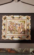 19th century capodimonte porcelain plaque