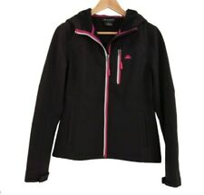 SNOZU Performance S Black Pink Accent Hoodie Full Zip Women's Jacket