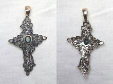 Crocifisso Antico In Oro, Argento, Smeraldo e Diamanti