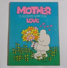 Ziggy Cartoon Mother's Day Plaque Vintage Tom Wilson American Greetings 1981