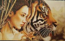LUCA S JAPONEZA Counted Cross Stitch Kit .Woman & Tiger LUCA-S Anchor & Zweigart