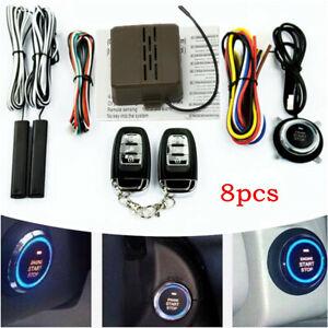 E Model Keyless Entry Alarm System Universal Car Engine Remote Start Push Button