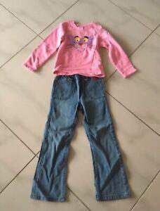 Pink Panther Pailletten Pullover Jako-o Jeans 116 Set Glitzer Sweatshirt w.neu