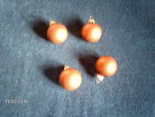 Weihnachtskugeln 4 teilig Rost Orange d=4 cm Echtglas