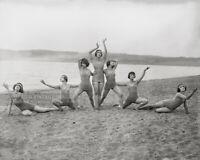 Vintage 1927 Photo Denishawn Dancers on the Beach - Beautiful Women Swimsuits
