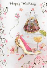 Juicy LIMONE HAPPY BIRTHDAY, fatti a mano CARD, Scarpe, Borse, tema di vino, qualità superiore (X1)
