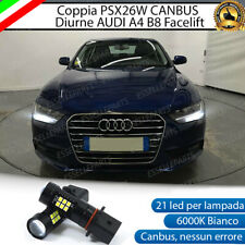 KIT LAMPADE POSIZIONE PSX26W 21 LED DRL AUDI A4 B8 RESTYLING CANBUS NO AVARIA