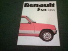 January 1976 RENAULT 5 GTL 1300 - UK FOLDER BROCHURE