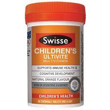 Swisse Children's Ultivite 60 Tab Kids Multi Vitamin Minerals Calcium Magnesium