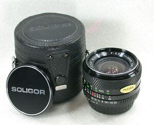 Soligor I-S 28mm F2.5 Manual Focus Wide Angle Lens, PK Fit, No. 3781810