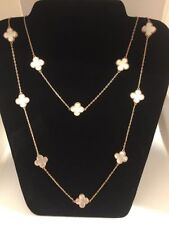 Mother of Pearl Rose Gold Costume Necklaces & Pendants