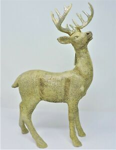 "RAZ 3401602 Champagne Gold 13.5"" Standing Deer Table Top Decoration"