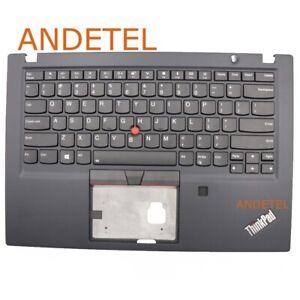 For Lenovo ThinkPad T490S Palmrest Upper Case US Keyboard W/ FP Backlighting New