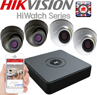 HIKVISION HD CCTV 1080P 8ch CAMERA KIT WHITE GREY DOME SECURITY  RECORDER SYSTEM