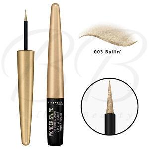 RIMMEL Wonder'Swipe 2-in-1 Glitter Metallic Liner To Shadow 1.7ml - 003 Ballin'