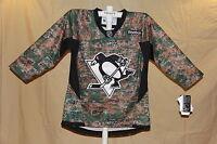 PITTSBURGH PENGUINS  Reebok NHL sewn logo CAMO JERSEY Youth Large/XL  NWT $95