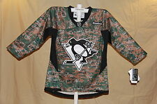PITTSBURGH PENGUINS  Reebok NHL sewn logo CAMO JERSEY Youth Large/XL  NWT $95