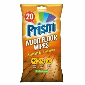 20 x WOOD FLOOR XL WIPES Laminate Polish & Shine QUICK DRY Non Slip Mop UK