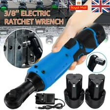 Electric Cordless Right Ratchet Angle Wrench 3/8'' 12V 90° Power Tool 2 Battery