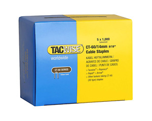 Tacwise CT-60/14mm Cable Tacker Staples Box 5000