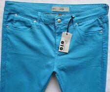 TOPSHOP Super soft Skinny LEIGH jeans aqua blue coloured size 14 W32 L32 32/30