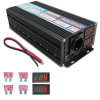 2000W / 4000w Spannungswandler 12V-230V Inverter Wechselrichter mit 2 USB 2 LED