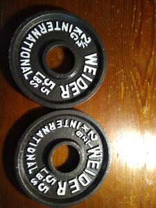 Weider International Olympic Weight plates, 5.5 lbs each (2.5kg)