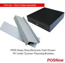 VPOS Heavy Duty Electronic Cash Drawer w/Mount Bracket