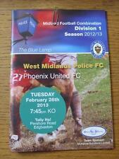 26/02/2013 West Midlands Police v Phoenix United   (Item has no apparent faults)