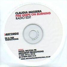 (711C) Claudia Massera, Fire Keeps On Burning - DJ CD