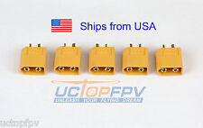 5pk Male XT60 Connector Lipo Battery DJI Phantom F550 F450 Turnigy Female Plug